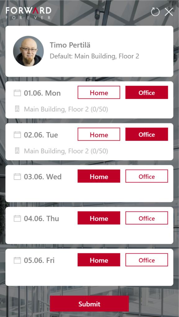 """My Office Days"" Power Apps v1"